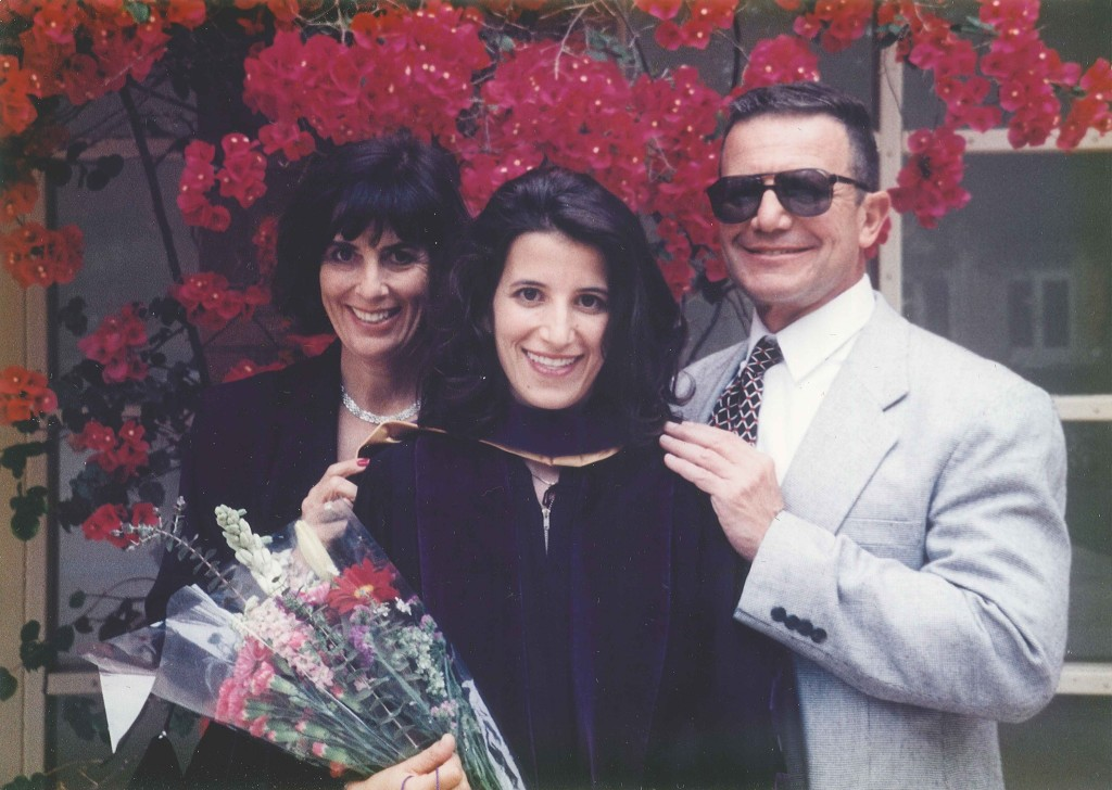 My parents and I at my law school graduation, May 1997.