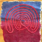 Felted wool finger labyrinth