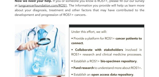 ROS1+ Cancer Research Survey Launched + FUNdraisers!